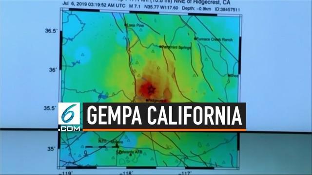 Survei Geologi AS memberikan penjelasan terkait gempa susulan magnitudo 7,1 yang mengguncang wilayah California.  Gempa susulan ini dilaporkan dirasakan hingga Las Vegas.