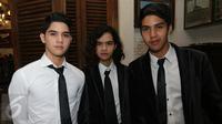 Ketiga anak Ahmad Dhani yaitu Al Ghazali, Abdul Qodir Jaelani, El Jalaludin Rumi (Liputan6.com/Herman Zakharia)