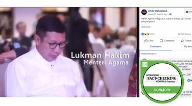 Cek Fakta - Menteri Agama Menangis di Acara LGBT?