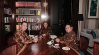 Agus Harimurti Yudhoyono (AHY) ikut hadir dalam pertemuan SBY dengan Prabowo, Selasa (24/7/2018) malam. (Ist)