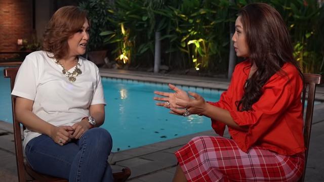 Maia Estianty dan Mayangsari. (Foto: YouTube Maia Aleldul TV)