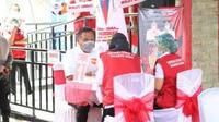 Peluncuran program vaksinasi di Sulut pada pertengahan Januari 2021 silam.