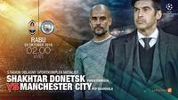 Shakhtar Donetsk vs Manchester City (Liputan6.com/Abdillah)