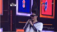 Rina Nose memparodikan lagu dan gaya Syahrini di panggung Shopee Big Ramadhan, Kamis, 23 Mei 2019