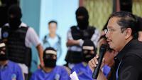 Kabag Humas BNN Kombes Pol Sumirat Dwiyanto mengatakan barang haram yang dimusnahkan berasal dari dua kasus penyeludupan narkotika yang dilakukan sindikat internasional, Selasa (13/5/14). (Liputan6.com/Faizal Fanani)