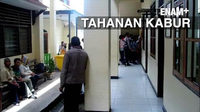 Seorang tahanan narkoba melarikan diri dari kamar tahanan saat akan mulai sidang