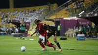 Duel Timnas Indonesia Vs UEA di stadion Zabeel, Dubai, Sabtu (12/6/2021) dini hari. (Bola.com/Dok PSSI)