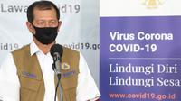 Di Graha BNPB, Jakarta, Kamis (9/4/2020), Ketua Gugus Tugas Percepatan Penanganan COVID-19 Doni Monardo apresiasi TikTok atas bantuan yang diberikan. (Dok Badan Nasional Penanggulangan Bencana/BNPB)