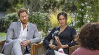 Pangeran Harry dan Meghan Markle dalam Wawancara Oprah. (Joe Pugliese/Harpo Productions via AP, File)