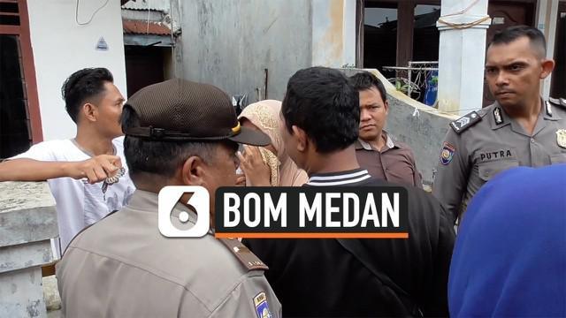 Tiga kerabat terduga pelaku bom bunuh diri di Mapolrestabes Medan dijemput pihak kepolisian untuk jalani pemeriksaan pada Rabu (13/11/2019) siang.