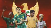 Timnas Indonesia - Irfan Jaya, Rachmat Irianto, Evan Dimas, Kushedya Hari Yudo (Bola.com/Adreanus Titus)