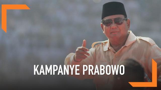 Prabowo Subianto berorasi dalam kampanye akbar di stadion GBK, Jakarta. Ia menyebut Indonesia sedang sakit, bahkan Ibu Pertiwi sedang diperkosa.