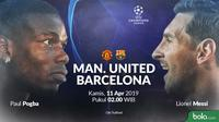 Liga Champions - Manchester United Vs Barcelona Head to Head (Bola.com/Adreanus Titus)