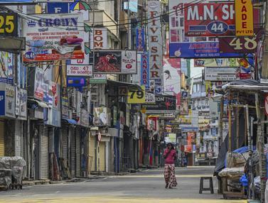 Potret Lockdown Akhir Pekan di Sri Lanka