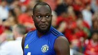 Romelu Lukaku disebut ingin meninggalkan Manchester United. (International Champions Cup/Suhaimi Abdullah)