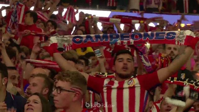 Berita video aksi selebrasi suporter setelah Atletico Madrid menjadi juara Liga Europa 2017-2018. This video presented by BallBall.