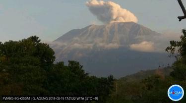 Gunung Agung Meletus lagi