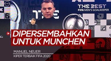 Berita video wawancara kiper Bayern Munchen, Manuel Neuer setelah memenangi kiper terbaik FIFA 2020