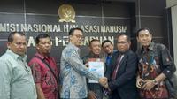 Perwakilan Forum Lintas Paguyuban Provinsi Papua mendatangi Kantor Komnas HAM pada Jumat (11/10/2019) siang.