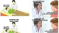 Meme berobat ke dokter (Sumber: Instagram/duhreceh)