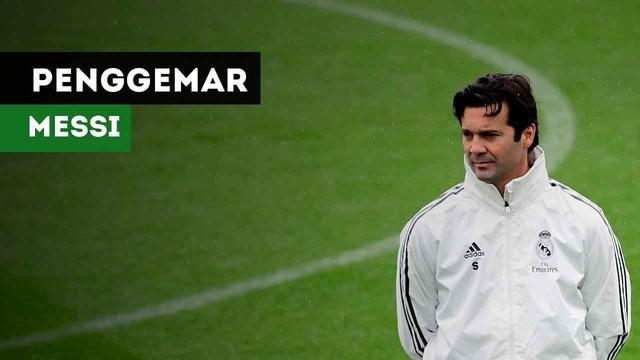 Caretaker Real Madrid, Santiago Solari ternyata penggemar berat Lionel Messi