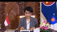 Menlu Retno Marsudi saat memberikan keterangan pers terkait KTT ASEAN ke-37. (Screenshot YouTube Sekretariat Presiden)