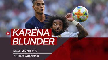 Berita video highlight Audi Cup 2019 di mana Real Madrid kalah 0-1 dari Tottenham Hotspur karena blunder bek Los Blancos, Marcelo, Selasa (30/7/2019)