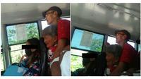 Kakek dan nenek ini berdiri di bis bikin miris. (Sumber: elitereaders)