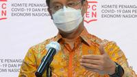 Ketua Satgas PEN Budi Gunadi Sadikin saat memaparkan realisasi anggaran PEN (dok: Biro Pers Sekretariat Presiden)