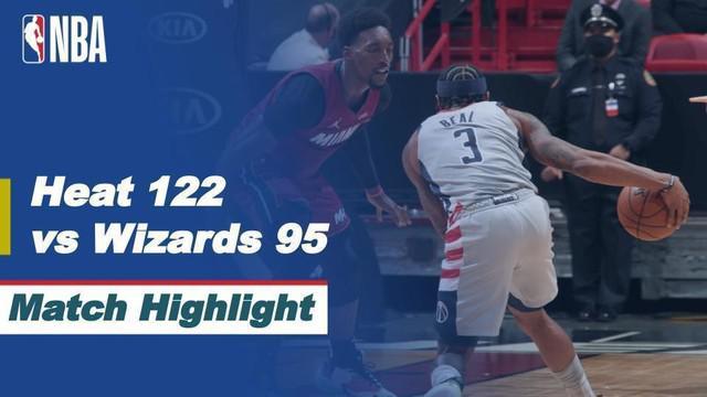 Berita video highlights NBA, Miami Heat taklukkan Washington Wizards 122-95