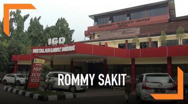 Mantan Ketua Umum PPP Romahurmuziy alias Romi dibantarkan ke RS Polri Kramat Jati. Pembantaran dilakukan lantaran Romi mengeluh sakit sejak ditahan Komisi Pemberantasan Korupsi (KPK).