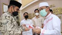 Sekjen Gerindra Ahmad Muzani bersilahturahmi ke kediaman Ustaz Das'ad Latif. (Foto: Istimewa).