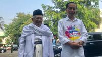 Bakal pasangan capres dan cawapres Jokowi dan Ma'ruf Amin menjalani tes kesehatan di RSPAD, Jakarta (Liputan6.com/ Yunizafira Putri)