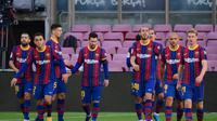 Barcelona berpesta gol ke gawang Osasuna pada lanjutan Liga Spanyol (AFP)