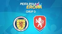 Pertandingan Grup D Euro 2020 (Euro 2021): Skotlandia Vs Republik Ceska. (Bola.com/Dody Iryawan)