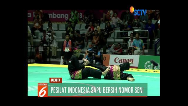 Dari 8 nomor final yang dipertandingkan, Tim Indonesia menyumbang 6 medali emas.