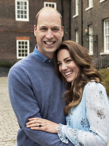 Pangeran William dan Kate Middleton.  (Chris Floyd/Camera Press/PA via AP)
