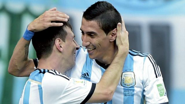 Image result for angel dimaria and messi