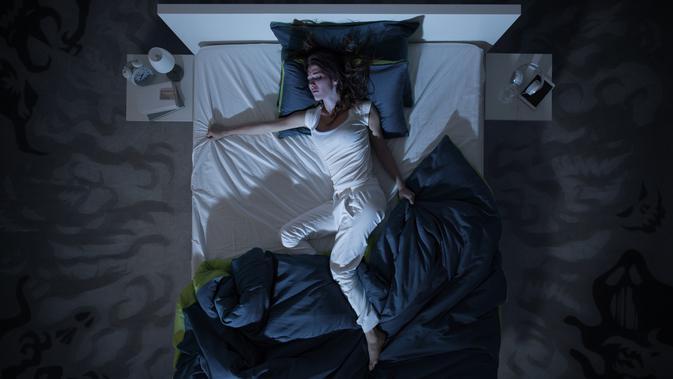 Ilustrasi mimpi buruk saat tidur (iStockphoto/demaerre)
