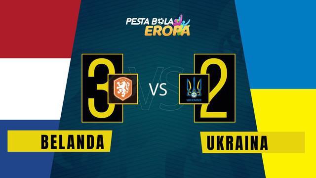 Berita motion grafis Belanda menang tipis 3-2 atas Ukraina berkat gol Denzel Dumfries