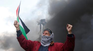 Pemuda Palestina Gelar Aksi di Tembok Perbatasan-AP Photo-20170217