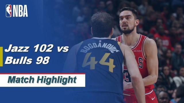 Berita Video Highlights NBA 2019-2020, Utah Jazz Vs Chicago Bulls 102-98