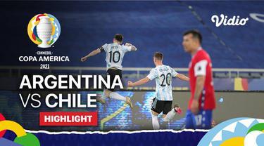 Berita video highlights Copa America 2021, Lionel Messi cetak 1 gol saat Argentina ditahan Chile 1-1, Selasa (15/6/21)