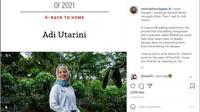Melinda French Gates menyebut peneliti Indonesia Dr Adi Utarini menginspirasi (Foto: Screenshot Instagram @melindafrenchgates).