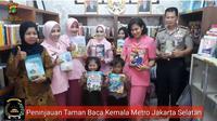 Peresmian Taman Baca Kemala Metro Jaksel Oleh Ketua Bhayangkari Daerah Metro Jaya Ny Fitri Idam Aziz (Foto: Berita Metro Jaksel)
