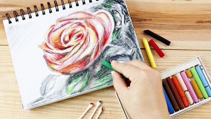 Cara Menggambar Bunga Mawar Dengan Mudah Cocok Untuk Anak Anak Citizen6 Liputan6 Com