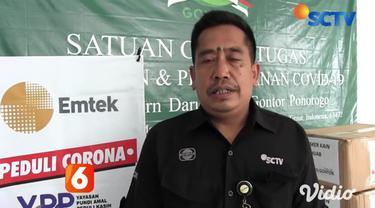 Emtek Peduli Covid-19, melalui Yayasan Pundi Amal Peduli Kasih SCTV-Indosiar, bekerja sama dengan Bukalapak dan JNE menyalurkan dan menyerahkan 50 ribu masker ke Pondok Pesantren Modern Darussalam Gontor 1, di Ponorogo, Jawa Timur.