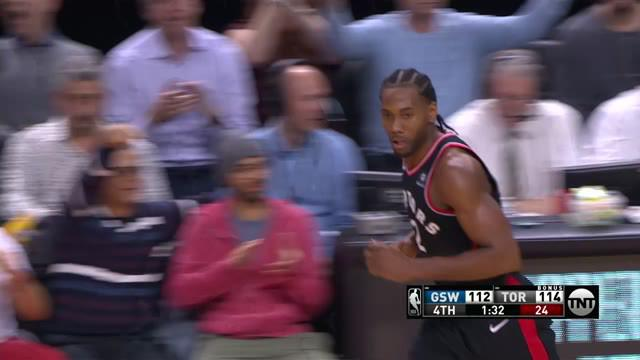 Kawhi Leonard mengumpulkan 37 poin dan meraih delapan rebound, Pascal Siakam menambah 26 poin ketika Raptors menurunkan Warriors dalam perpanjangan waktu, 131-128. Kevin Durant mencetak 51 poin dalam kekalahan
