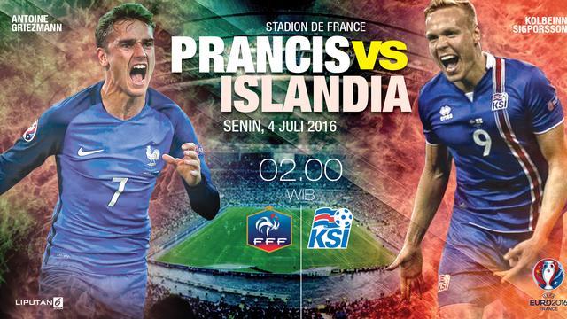 Prediksi Prancis Vs Islandia