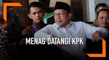 Menteri Agama Lukman Hakim Saefuddin memenuhi panggilan KPK untuk kasus dugaan jual beli jabatan Romahurmuziy.